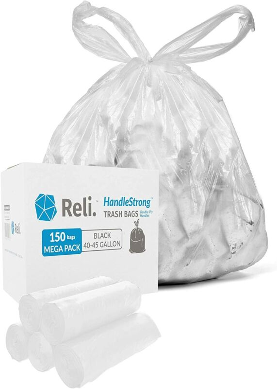 Reli. HandleStrong 40-45 Gallon Trash Bags with Handles (150 Count)