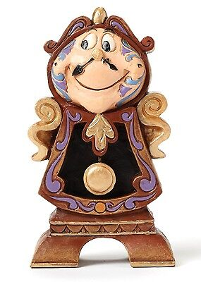 Disney Traditions Cogsworth Clock Keeping Watch Ornament Resin Figurine Gift Box