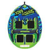 NEW AIRHEAD AHSB-4 Switchback Four Rider Inflatable Towable Boat Lake Water Tube