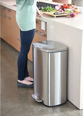iTouchless SoftStep 13 Gallon Step Trash Can with Odor Filter & Inner Bucket, 50 Trash Can Odor