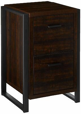 Home Office 2 Drawer Vertical File Storage Cabinet - Dark Chocolate