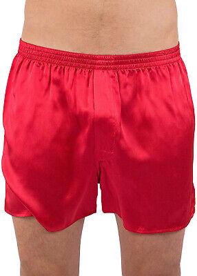 Intimo Mens Solid Color Silk Boxer Briefs Underwear