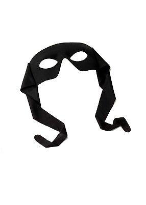Zorro Bandit Schwarz Ninja Turtles Augen Maske Maskerade Kostüm Superheld ()