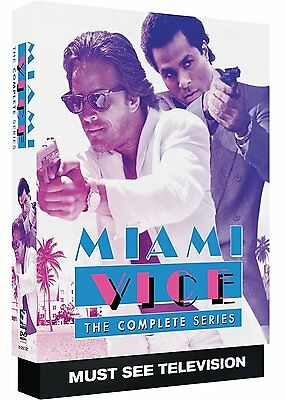 Miami Vice Complete Series ALL Seasons 1 2 3 4 5 DVD Set Collection TV Show Box