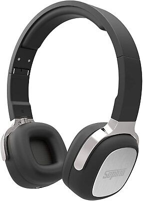 Sephia SX16 Wireless Bluetooth Headphones with Mic Foldable On Ear Headset Black