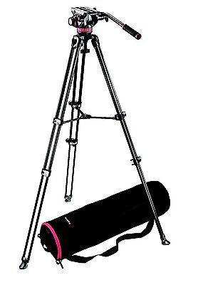 Manfrotto MVK502AM Video Telescoping Twin Leg Kit w/ 502 Video Head & Carry Bag