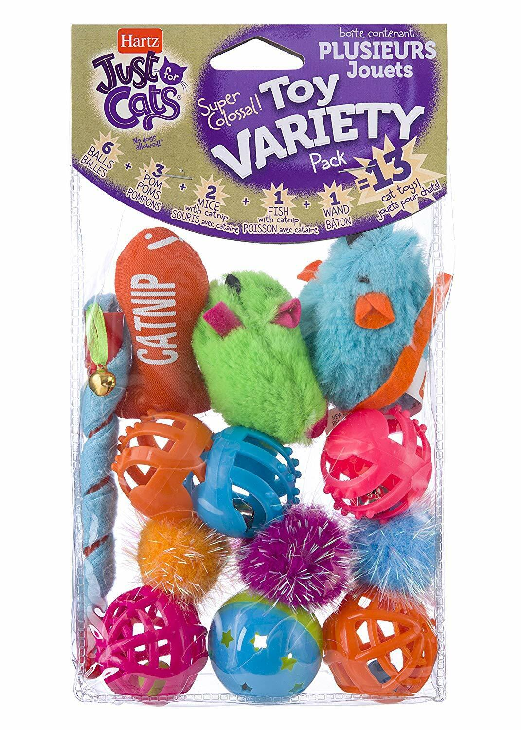 Hartz Just For Cats Cat Toys Value Pack, 13ct