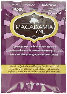 HASK Macadamia Oil Deep Conditioning Treatment Packet 1.75 oz - FAST Shipping