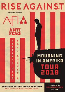 RISE AGAINST/AFI/ANTI FLAG 2018 PHILADELPHIA CONCERT TOUR POSTER-Punk Rock Music