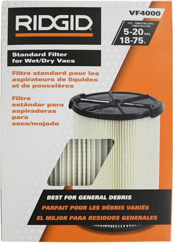 Ridgid VF4000 Washable Wet/Dry Vacuum Filter Replacement