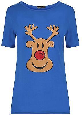 Frauen Plus Size Weihnachten Festlich Schlank Passen Geschenk T-Shirt Tops ()
