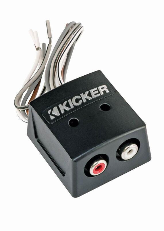 Kicker 46KISLOC Car Audio Amp 2 Channel RCA Line Output Converter KISLOC New