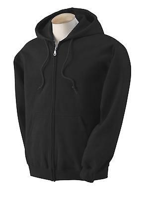 Blue Bay Industries Mens Zip Up Hooded Sweatshirt Ultimate Heavyweight Fleece Bl