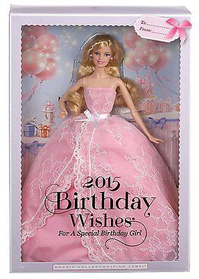 New Barbie 2015 Birthday Wishes Barbie Doll Sealed