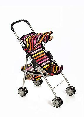 Foldable Doll Dolls Stroller Heart Design Large Basket Fun Role Play Toy -