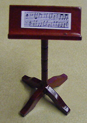 1:12 Scale Wooden Music Stand Dolls House Miniature Instrument Accessory 384