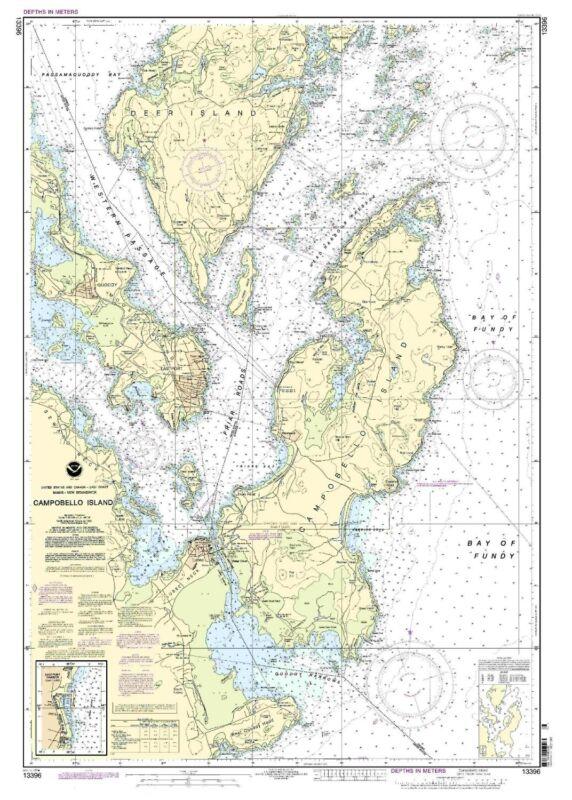 NOAA Chart Campobello Island; Eastport Harbor 6th Edition 13396