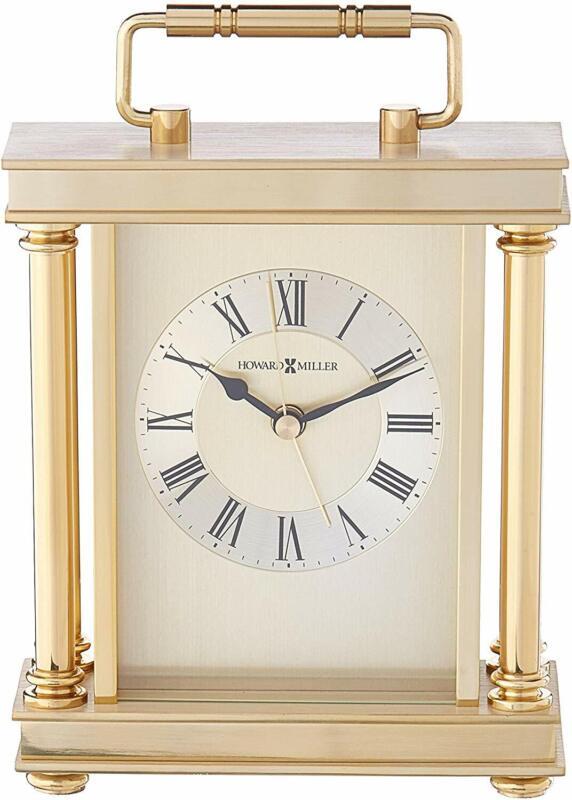 Howard Miller Audra Table Clock 645-584 – Brass Carriage & Quartz Alarm Movement