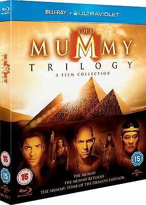The Mummy Trilogy 3 Film Collection  Blu Ray  3 Discs  Region Free   Newsealed