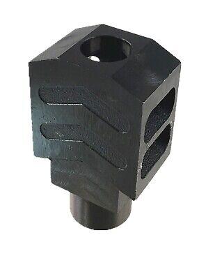 US 1/2x28 TPI BLACK Steel Tanker Style Muzzle Brake For 223 556