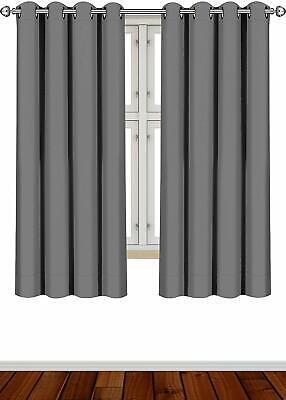 Curtains Blackout Room Darkening Grommet Window Panel Drapes 2 Panel Set 52x63