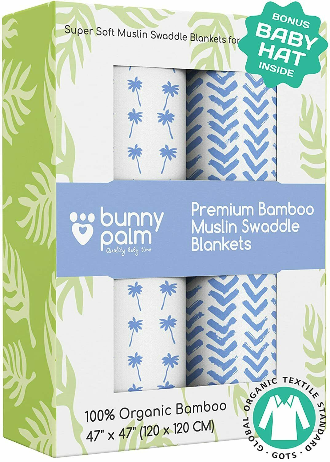 Muslin Swaddle Blanket for Baby Set of 2 blankets for boys,