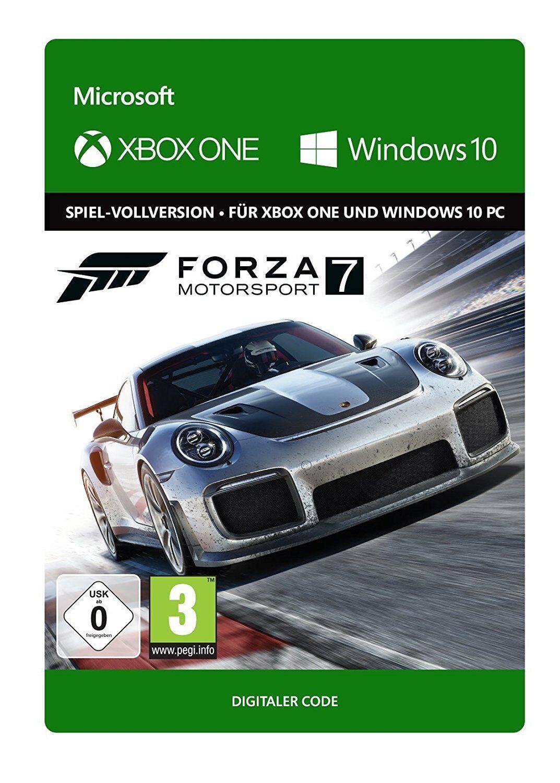Xbox One und Windows 10 PC Forza Motorsport 7 Key Digital Download Code DE/EU
