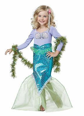 Magical Mermaid Little Cute Fancy Dress Up Halloween Toddler Child Costume
