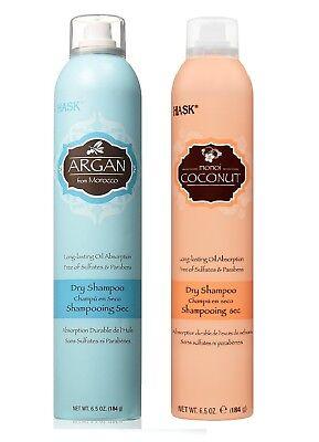 Hask Dry Shampoo Argan & Coconut, 6.5 Ounce