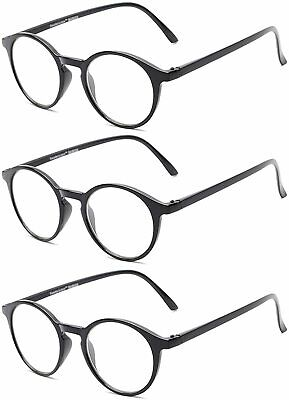.com Fully Magnified Reading Glasses The Port - 3 Pairs,, 3 Black, Size Fu8F - $13.99
