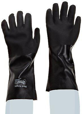 1 DZ SHOWA BEST 7714R BLACK KNIGHT PVC GLOVES 14 INCH ROUGH