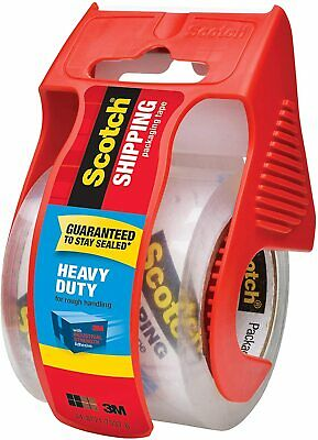 Scotch Heavy Duty Shipping Packaging Tape1 Roll With Dispenser Clear 1.5core