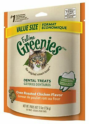 Feline Greenies Dental Treats 5.5 oz Chicken | Vet Recommended For Cats