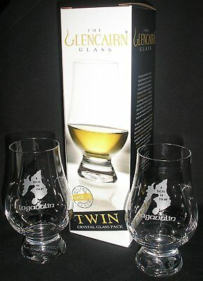 "LAGAVULIN ""A TASTE OF ISLAY"" TWIN PACK GLENCAIRN SCOTCH WHISKY TASTING GLASSES , usado segunda mano  Embacar hacia Argentina"