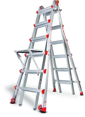 26 1a Demo Little Giant Ladder W Platform Wheels