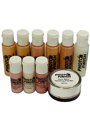 PHOTO FINISH AIRBRUSH MAKEUP, KIT-FOUNDATION SET 10 peice set. Matte finish