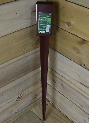 10x Fence Post Holder Spike Support Rust Resistant Metal Stakes 3