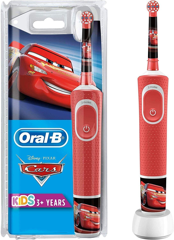 BRAUN ORAL-B Kids Cars Elektrische Zahnbürste für Kinder ab 3 Jahren, rot