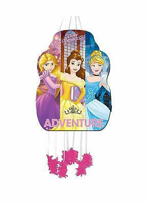 Disney Princess Bell Girls Pull String  Pinata For Birthday Party 33 x 46cm - Disney Princess Pinata