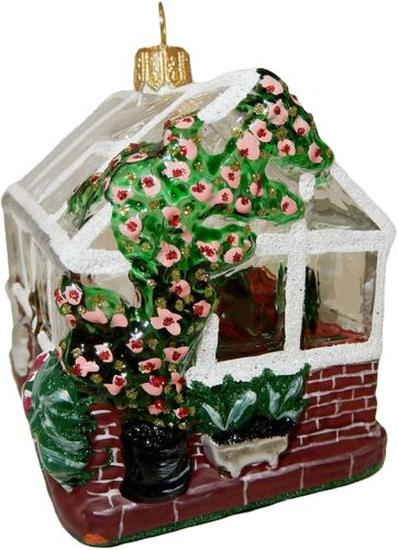 Greenhouse Flower Garden Glass Christmas Tree Ornament Decoration 110321