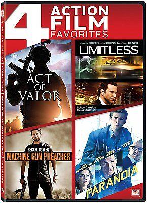 Act of Valor / Limitless / Machine Gun Preacher / Paranoia (DVD, 2014) ()