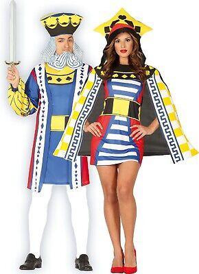 Paar Damen und Herren Spielkarte Royalty Vegas Kostüm Verkleidung Outfit