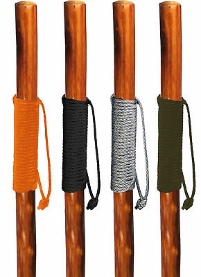 "Walking Hiking Hike Stick Cane Staff 55"" Pine Wood with Paracord Wrapped Handle"