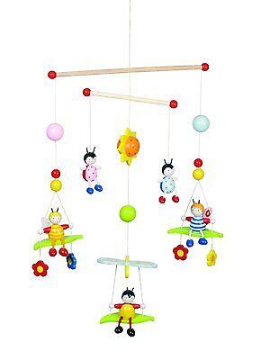 Mobile Goki 52954 3 D Bienen Käfer Tiermobile Holzmobile Kindermobile Tiere Neu