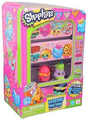 New Kids Shopkins Vending Machine Storage + 2 Exclusive Gift Christmas Birthday