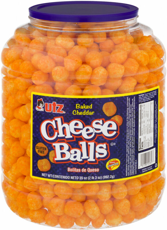 Utz Gluten Free Baked Cheddar Cheese Balls 35 Oz