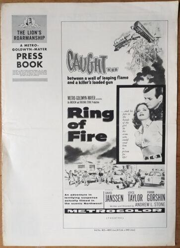 RING OF FIRE, David Janssen, Joyce Taylor, 1961, Pressbook 541