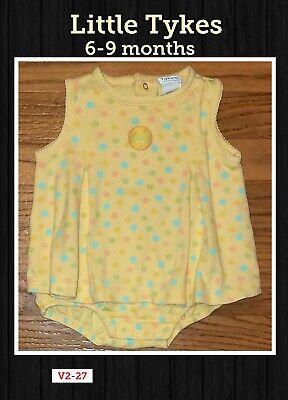 6-9 Month Little Tykes Girls Yellow Summer Dress Romper