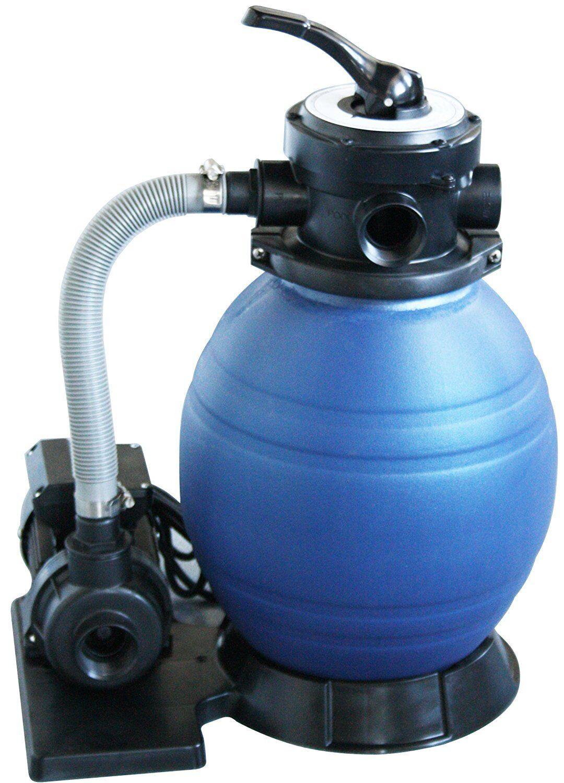 Pool Filteranlage / Sandfilteranlage D300 inkl. Filterpumpe + 6-Wege Ventil