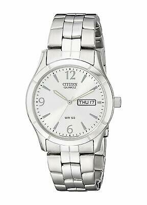 Citizen Men's BK3830-51A Quartz Day & Date Silver-Tone Bracelet 37mm Watch